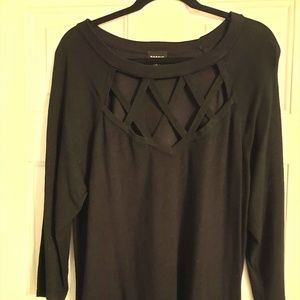 Torrid, Black Sweater Top, Size 2